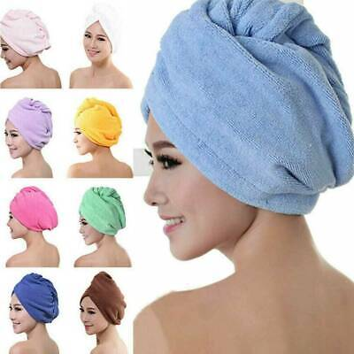 MAGIC QUICK DRY  HAIR TURBAN SUPER SOFT TOWEL HAIR WRAP BATH TOWEL CAP HAT New