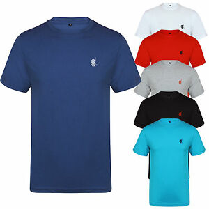 New-Mens-T-shirt-Polo-Crew-Neck-Short-Sleeve-Designer-Style-Reg-Fit-Tee-Cotton