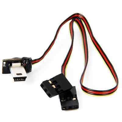 Câble Adaptateur 22cm Angle 90 Mini USB vers Video+Recharge 5V GoPro Hero 3 3+ 4