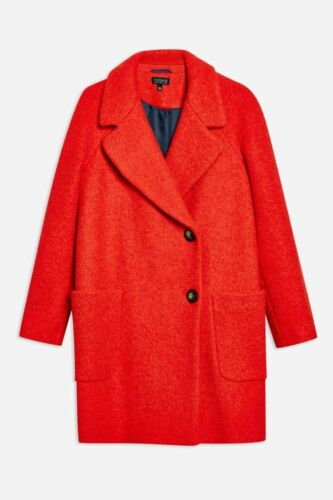 a Boucle Jacket Teddy da € 16 Jacket 85 Red 6 Seamed Casual Topshop Uk Button RwFPP