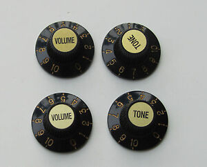 Gold Black Electric Guitar Speed Knobs for USA Les Paul Imperial Inch LP
