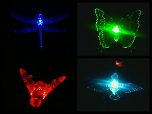 Image Is Loading BEE BUTTERFLY DRAGONFLY HUMMINGBIRD SOLAR GARDEN STAKE  LIGHT