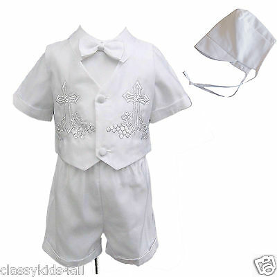 NEW Infant Boy /& Toddler Christening Baptism Formal Suit sz XS S M L XL 2T 3T 4T