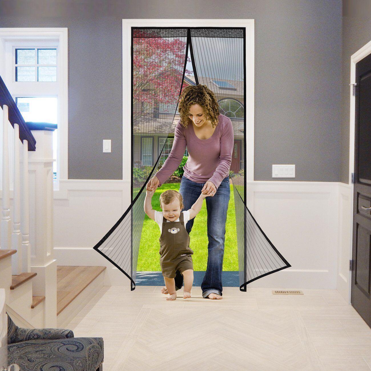 magnet insektenschutz fliegengitter t r fliegen vorhang fliegenvorhang schwarz ebay. Black Bedroom Furniture Sets. Home Design Ideas