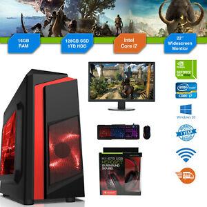 Personalizado-Barato-Pc-Para-Juegos-Intel-Core-i7-Win10-GTX1650-16GB-Ram-128GB-SSD-1TB-HDD