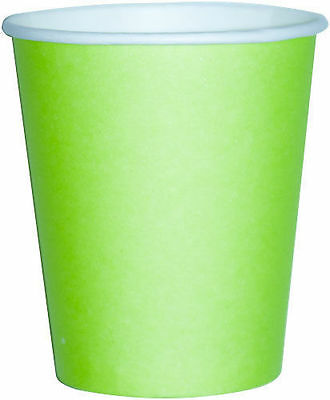 14 Paper Cups Disposable Drinking Solid 20 Coloured Party Wedding Supplies 9oz