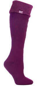 1 Pair Ladies Wellington Boot Heat Holders Socks size 4-8 uk Deep Fuchsia