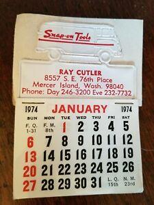 Snap-On-Tools-Vintage-1974-Stickem-Calendar-Mercer-Island-WA