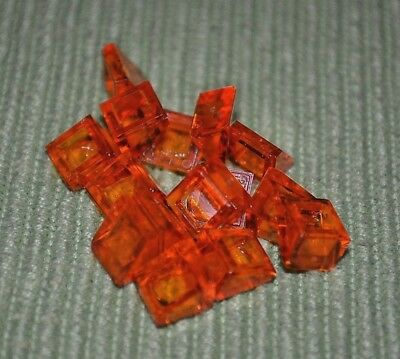 1x1 Clear Red Translucent Extra Small Slope Bricks ~ New Lego Parts ~ 10