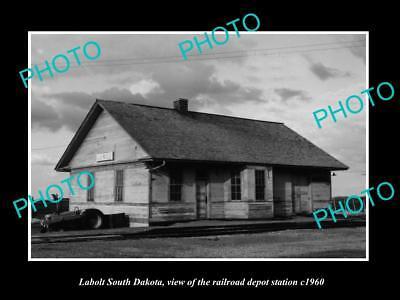 Railroadiana & Trains Old Large Historic Photo Of Labolt South Dakota Railroad Depot Station C1960 Hot Sale 50-70% OFF