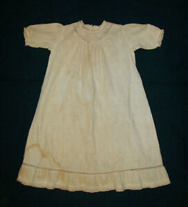 Old-Antique-Vtg-ca-1880s-Childs-Little-Girls-Doll-Dress-Gown-Beautiful-Nice