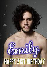 Personalizado Jon Snow, juego de tronos A5 Cumpleaños Tarjeta De Felicitación
