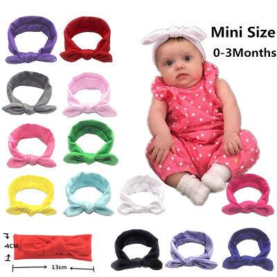 Baby Kids Girls Rabbit Bunny Bow Ear Hairband Headband Turban Knot Head Wraps