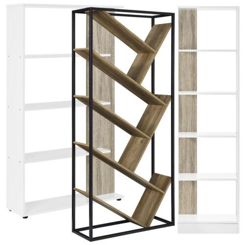 ® Bücherregal Holz-Optik Regal Standregal Wandregal Aufbewahrung Büro en.casa