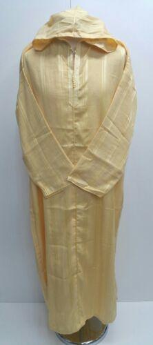 Size 54 Men Moroccan hooded long sleeves  thobe//djelleba.jubba.dishdash .