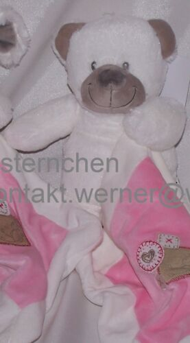 Schmusetuch Schmusetier Plüschtier Nicotoy Bär Maus weiß rosa NEU!!