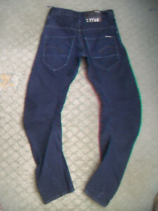 MENS-G-STAR-3301-ARC-LOOSE-TAPERED-JEANS-SIZE-28