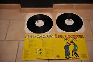 LES-ZAZOUS-album-2-disques-33t-ouvrant-swing-rock-1940-45-serie-punch-EXCELLENT