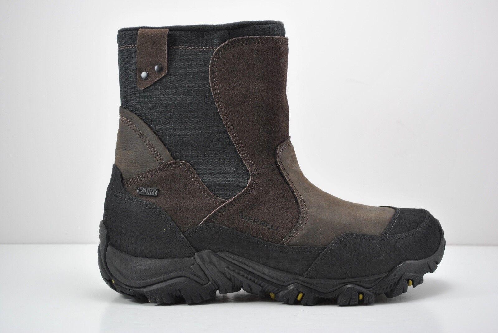 botas para Hombre Impermeable Polarand Rove Cremallera Expresso Marrón Negro J23429