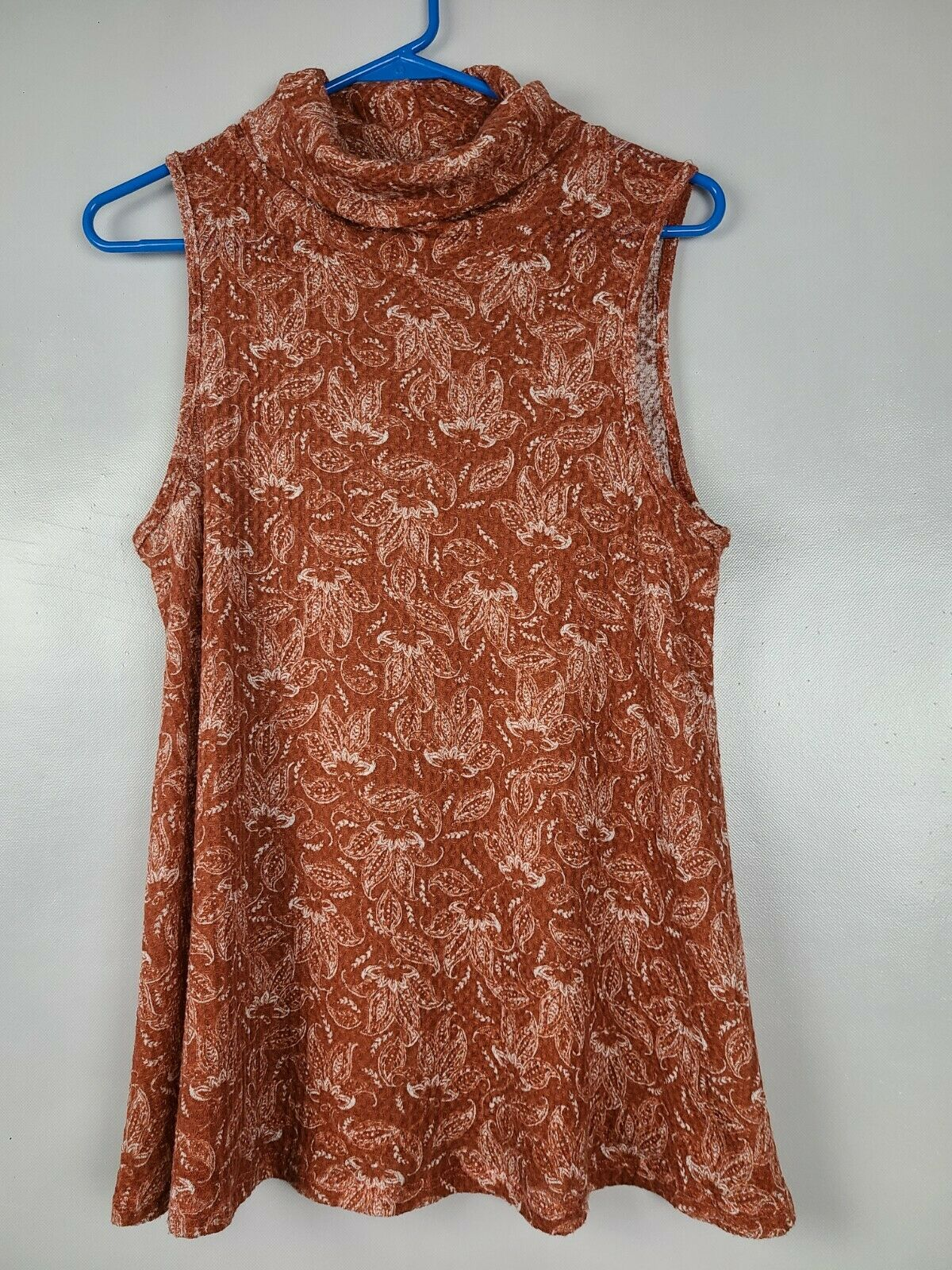 Sweet Claire Womens Top Size Small Brown White Fl… - image 1