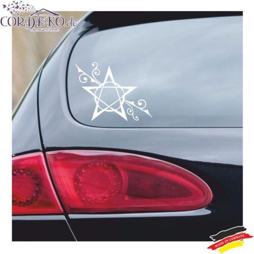 PENTACOLO Auto Adesivi Fiori Pagan rune PELLICOLA ADESIVO CAR decal wicca Decorazione