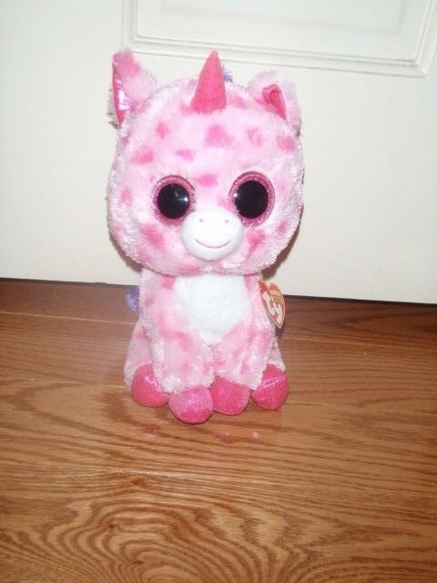 6a9d1da10b2 Ty Beanie Boos Sugar Pie Unicorn With Heart   Tush Tags 2015 Pink Spots I9  for sale online