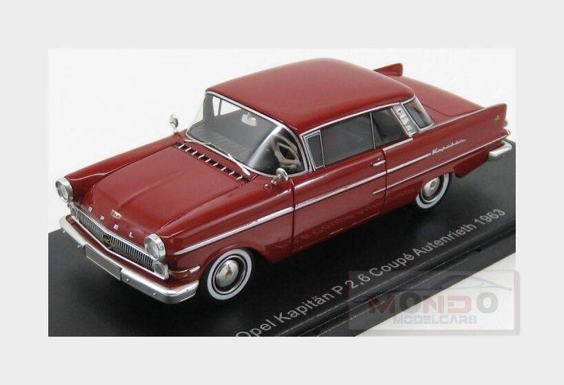 OPEL KAPITAN P 2.6 Coupé Autenrieth 1963 Dark rouge Neoscale. 1 43 neo47030 Model