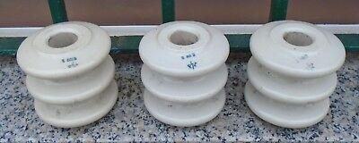 1 Alter Isolatore Porzellan Isolatoren Briefbeschwerer Buchstütze Industrie Loft Verpackung Der Nominierten Marke
