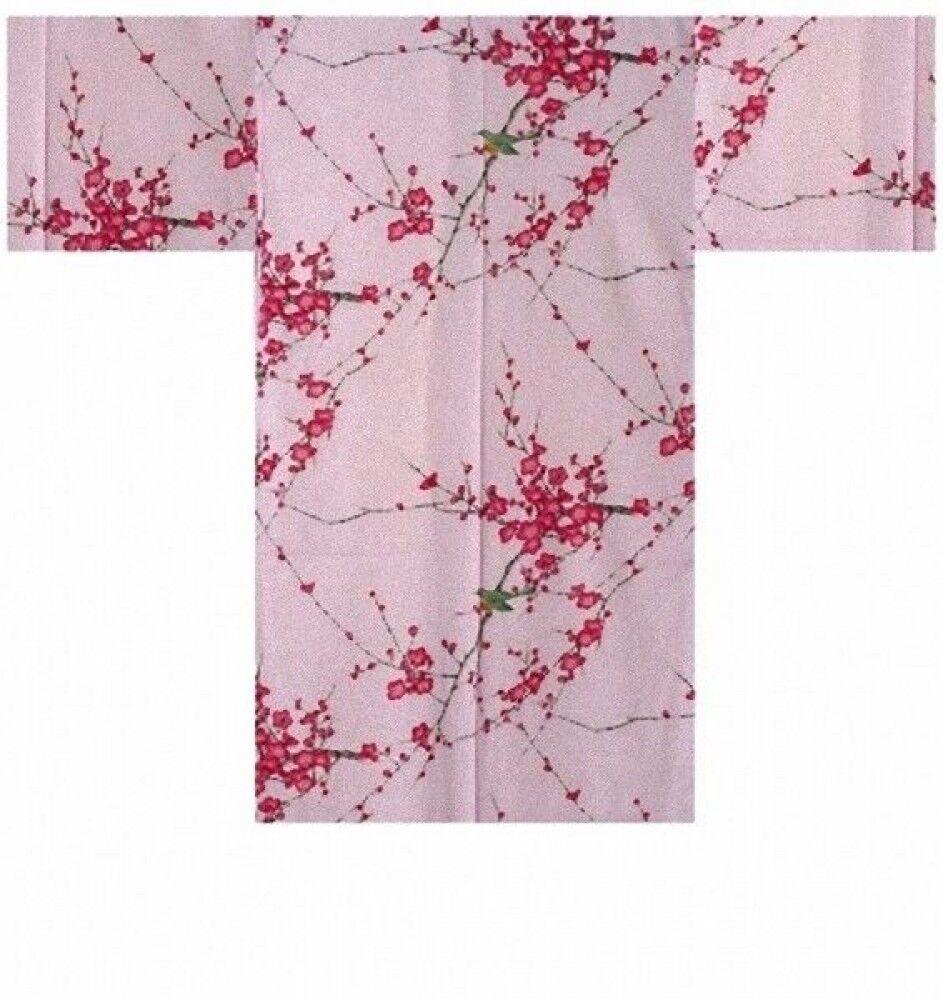Ladies HAPPI Coat  plum & bush warbler  Matsuri Festival Authentic JAPAN SHL680