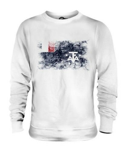 FRENCH SOUTHERN AND ANTARCTIC LANDS DISTRESSED FLAG UNISEX SWEATER TOP SHIRT