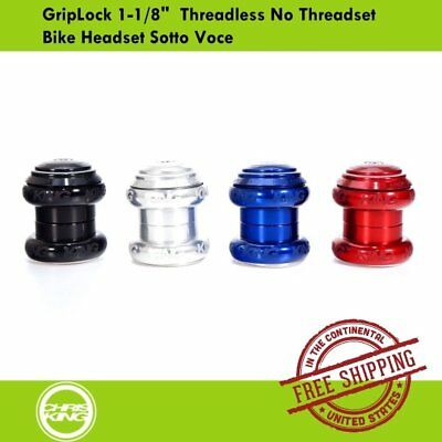 Bold //Sotto Voce Logo,New Chris King NoThreadSet GripLock Headset 1-1//8 inch