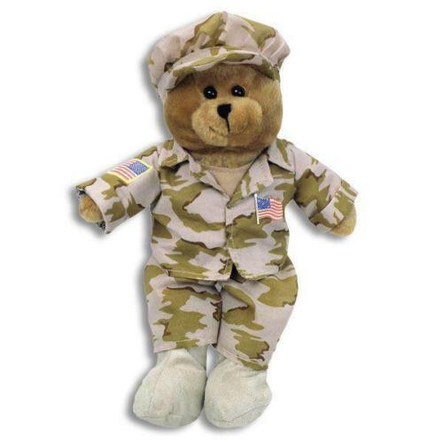Military Singing GI Hero Teddy Bear American Heroes Plush Toy