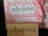 Stampin Up Curls Swirls Fluttering Butterflies Congratulations Fits Punches Dies