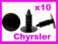 10 JEEP CHRYSLER plastic fasteners clips fascia panel pin wheel arch lining