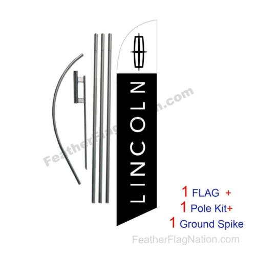 Custom LINCOLN 15/' Feather Banner Swooper Flag Kit with pole+spike music