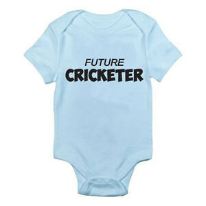 Future Cricket Star Sport Babygrow Vest Baby Clothing Funny Gift