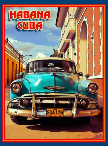 Cuba Cuban Havana Island Habana Caribbean Travel Art Advertisement Poster