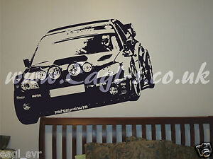 Image is loading Vinyl-wall-art-Subaru-rally-car-inspired-decal- & Vinyl wall art Subaru rally car inspired decal. track day XXL | eBay