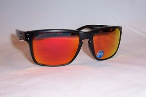 d6128dcad35 New Oakley Sunglasses HOLBROOK OO9102-51 BLACK RUBY MIRROR POLARIZED ...