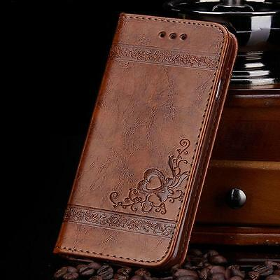 Luxury Leather Flip Card Wallet Phone Case Cover Stand for iPhone 6S 7 8 Plus X