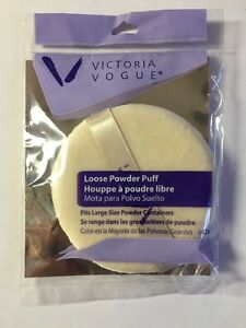 Lot-Of-10-Sealed-Victoria-Vogue-Round-Loose-Powder-Puffs-Approximately-3-3-4-034