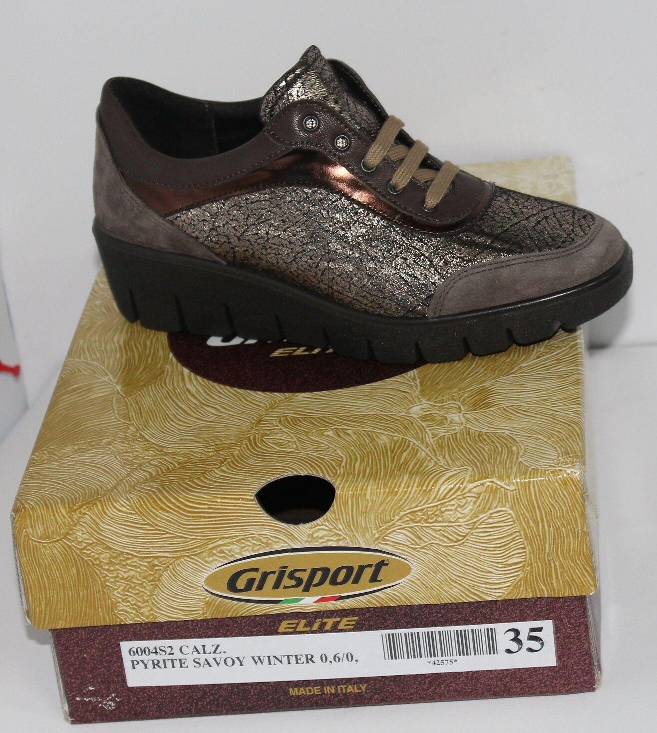 Scarpa da donna gri sport elite   pyrite savoy winter  elite made in italy comodissime 050927