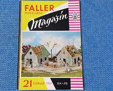 Faller  AMS --  Modellbau Magazin 21 von 1961 !