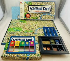 1985 Scotland Yard Game by Milton Bradley Complete in Great Condition FREE SHIP