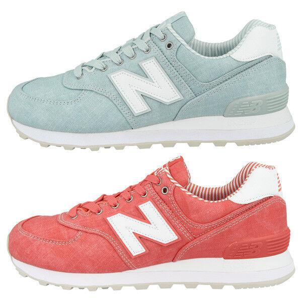 Zapatos promocionales para hombres y mujeres New Balance WL 574 CH Beach Chambray Women Schuhe Damen Freizeit Sneaker WL574CH