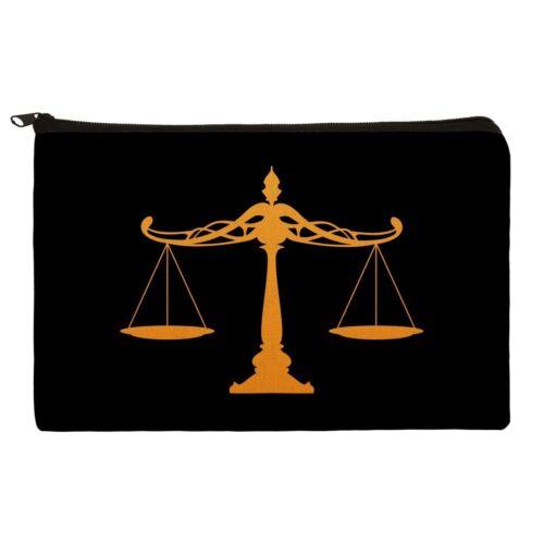Scales Of Justice Legal Lawyer Pencil Pen Organizer Zipper Pouch Case