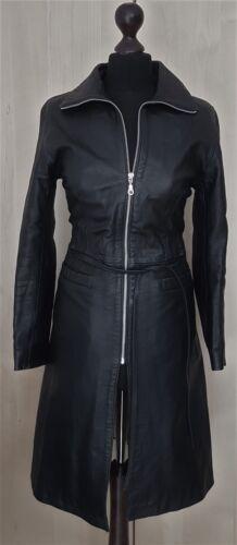 Pelle Emo 10 8 knie jas jas Zwarte echt lengte Moda S Zip leer Vk zacht xRqpFw