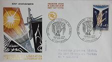 ENVELOPPE PREMIER JOUR - 9 x 16,5 cm - 1970 - SOUVENIR DES CAMPS DE DEPORTATION
