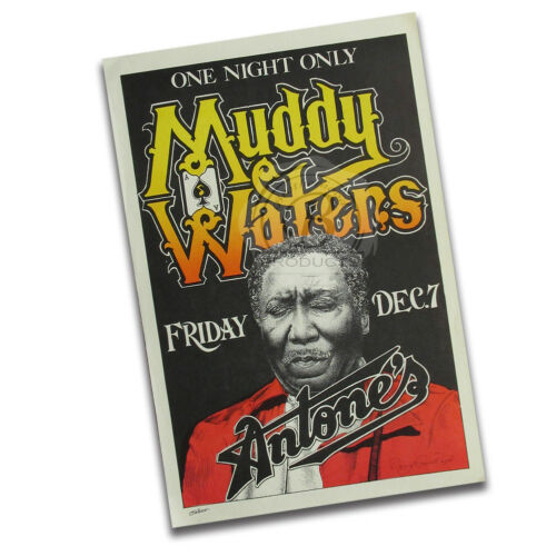 Muddy Waters In Concert Friday December 7th at Antone/'s Reproduction Poster