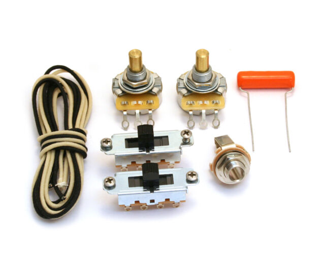WKM-VBLK Black Switch Guitar Wiring Kit For Fender Mustang®